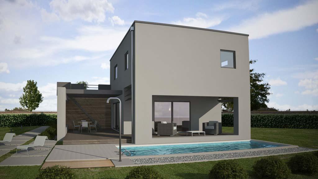 Progetti jacky house sail for Case moderne design